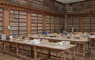 Salle de lecture de la Bibliothèque universitaire historique de médecine de Montpellier